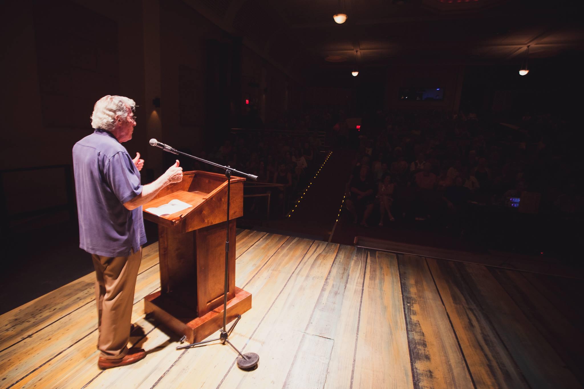 Dr. Gary Greenberg addresses audience