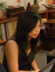 """Peiling rehearses for """"Piano Synergy"""", July 14, 2012, Maui Music Conservatory, Kahului."""