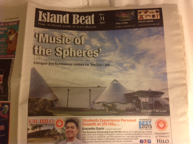 Hawaii Tribune Herald - Island Beat, December 31, 2015 - p1