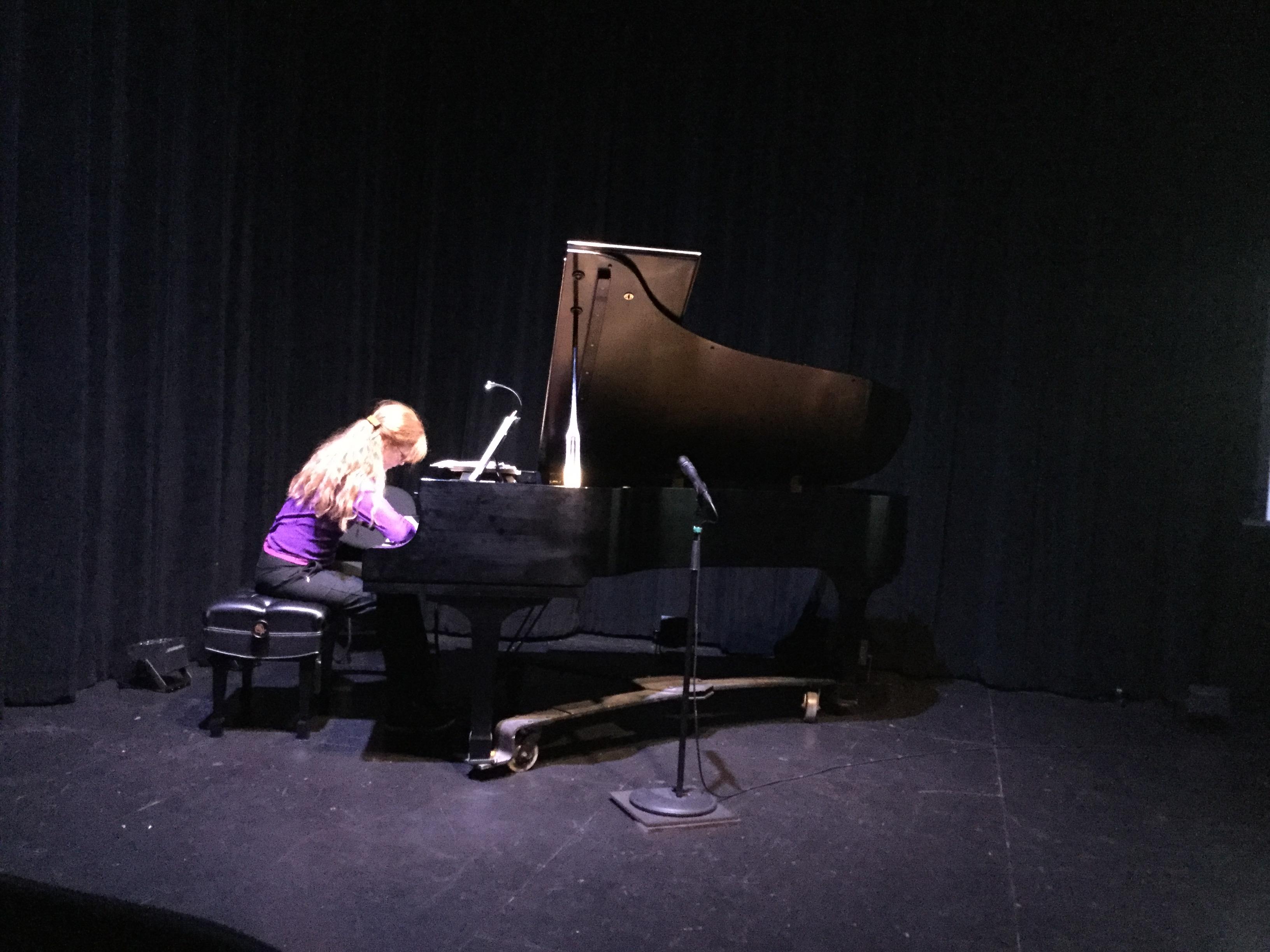 Sarah Cahill rehearses